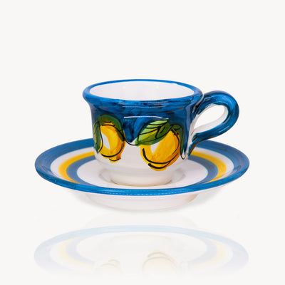 """LEMON"" - Hand-painted Coffee Cup Memoritaly"