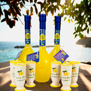 Limoncello of Sorrento Gioia Luisa Gift Pack (n°3 Bottles, n° 6 handmade terracotta glasses)