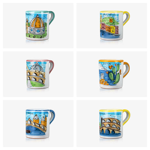 6 PCS Mugs 'Memoritaly' Collection 03