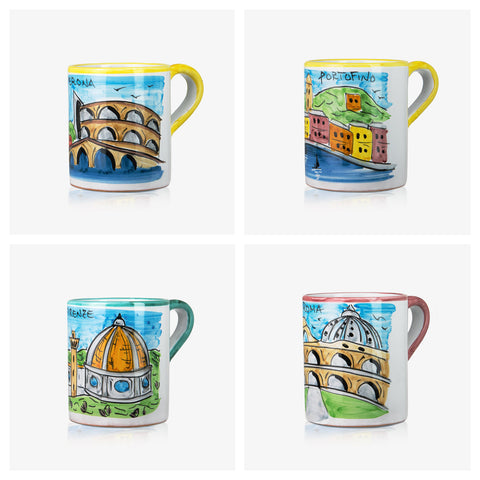 4 PCS Mugs 'Memoritaly' Collection 02