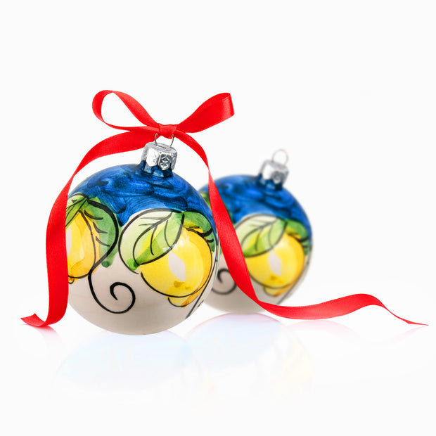 LEMON Hand-painted Christmas Balls Ornaments