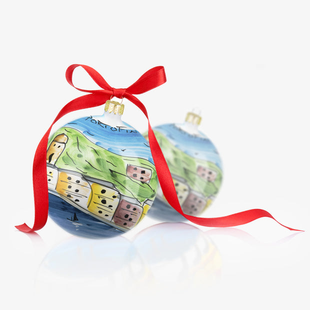 PORTOFINO Hand-Painted Christmas Balls Ornaments