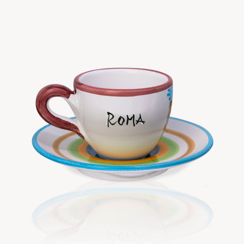 """Roma"" - Hand-painted Coffee Cup Memoritaly"