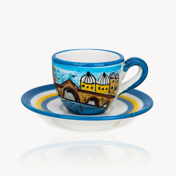 """Venezia"" - Hand-painted Coffee Cup Memoritaly"
