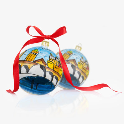 VENEZIA Hand-Painted Christmas Balls Ornaments