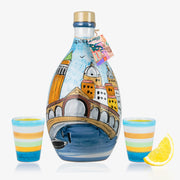'VENEZIA MEMORITALY' - Handmade Jar Limoncello and two Glasses