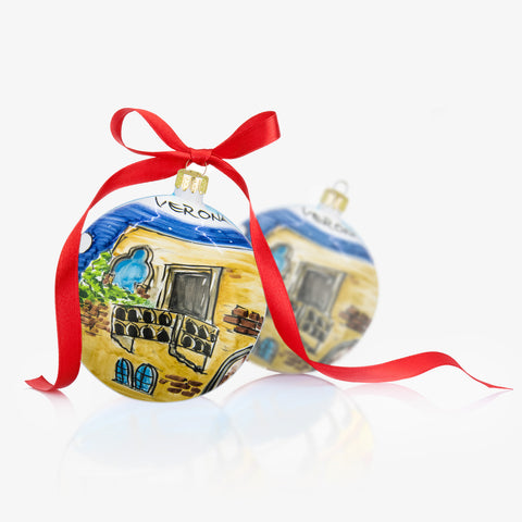 VERONA Hand-Painted Christmas Balls Ornaments