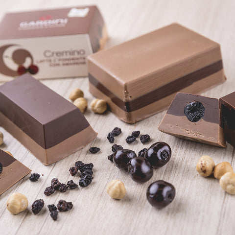 Milk and Dark Chocolate with Cherries - Dolceterra's Collection
