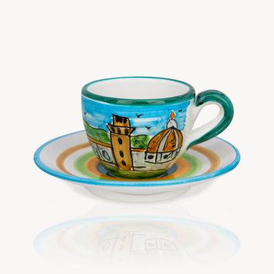 """Firenze"" - Hand-painted Coffee Cup Memoritaly"