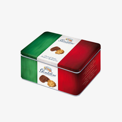 Tricolor biscuit tin - Fine Food Gifts | Italian Gift Baskets – Dolceterra Italian Within US Store‎