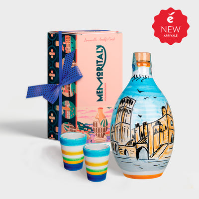 'Assisi Memoritaly' - Handmade Jar Limoncello and two Glasses