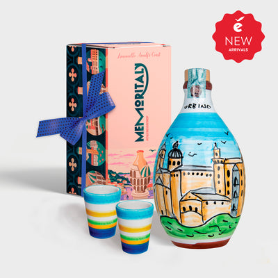 'Urbino Memoritaly' - Handmade Jar Limoncello and two Glasses