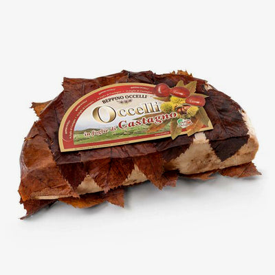 Occelli cheese in chestnut leaves