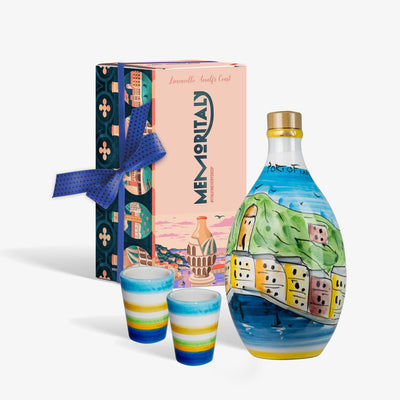 'Portofino Memoritaly' - Handmade Jar Limoncello and two Glasses