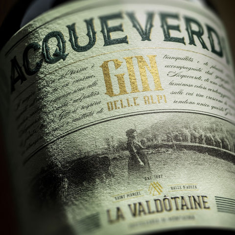 Gin Magnifico Acque Verdi - La Valdotaine Limited Edition Gift Tube