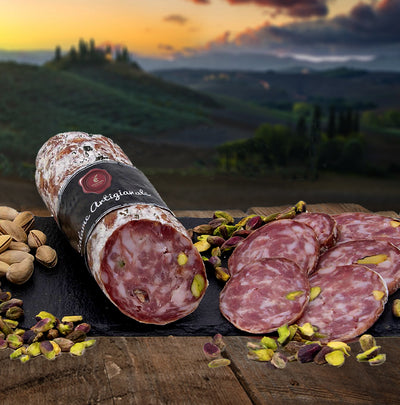 Tuscan Flavoured salami with Pistachios | Dolceterra