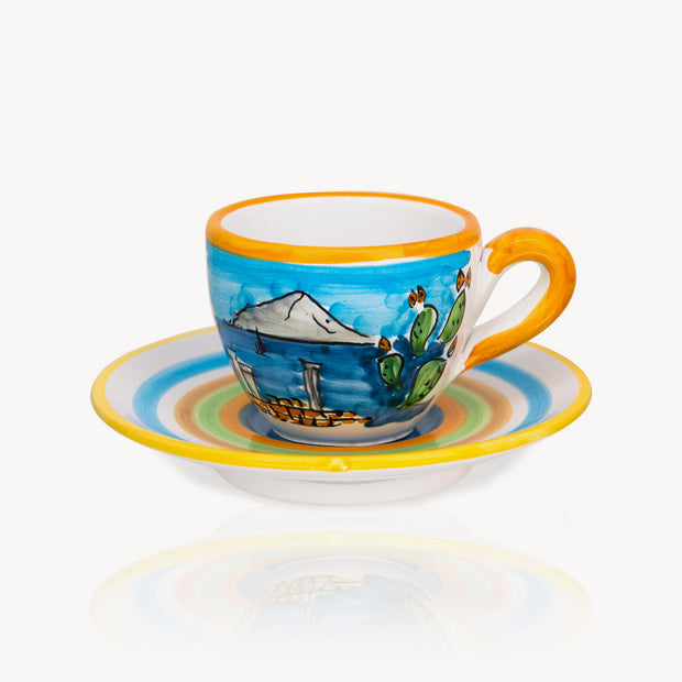 """Sicilia"" - Hand-painted Coffee Cup Memoritaly"