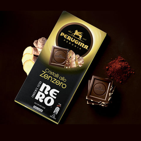 Perugina Nero Fondente Extra Zenzero - Chocolate bar with ginger