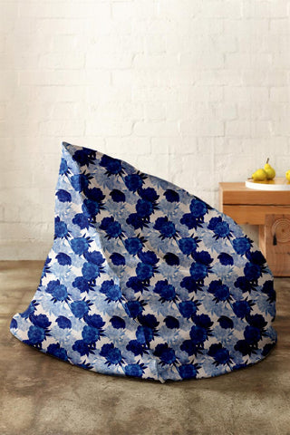 Peony Blue Bean Bag - Haus and Sie