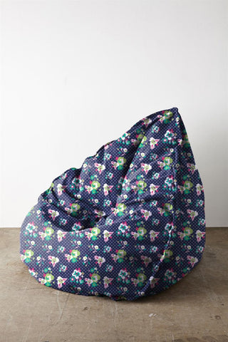 Navy Daffodil Bean Bags - Haus and Sie