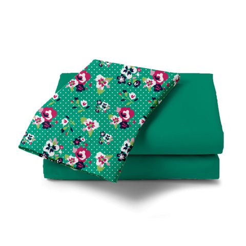 Green Daffodil Bed Sheet - Haus and Sie