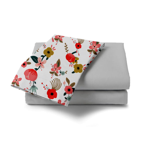 Painted Hibiscus Bed Sheet - Haus and Sie