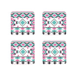 Multi Dimensional Border Printed wooden coasters Set of 4