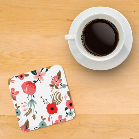 Painted Hibiscus Printed wooden coasters - Haus and Sie