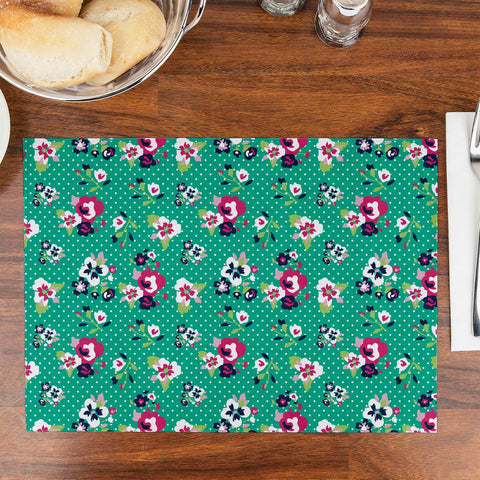 Green Daffodil Table Placemat - Haus and Sie