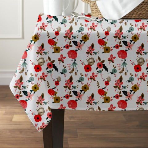 Painted Hibiscus Waterproof Table Cover - Haus and Sie