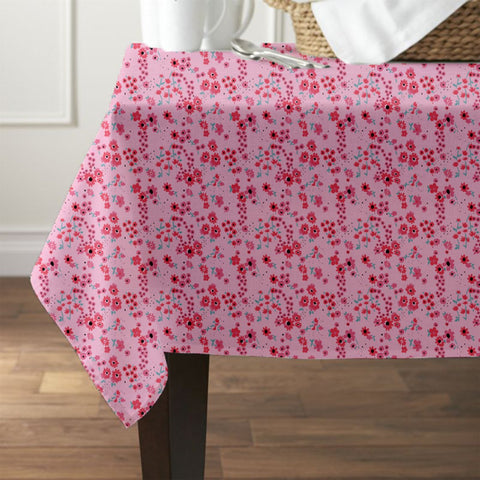 Pink Blossom Waterproof Table Cover - Haus and Sie