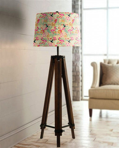 Printed Shade Tripod Lamp - Haus and Sie