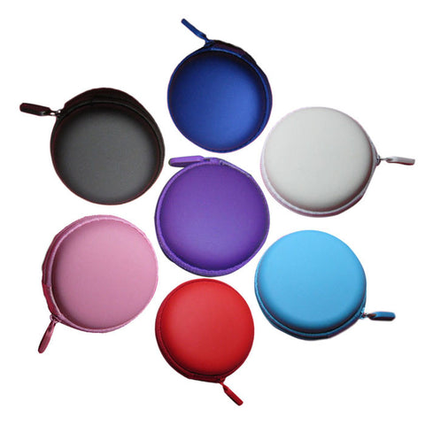 Colourful Portable Mini Round Hard Storage Case Bag for Earphone Headphone SD TF Cards #RJ16