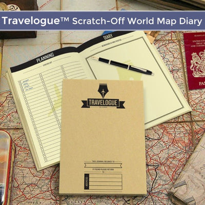 Travelogue™ Scratch Off World Map Diary