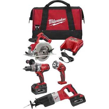 Milwaukee 28V Lithium Ion 4pce Cordless V28 Kit