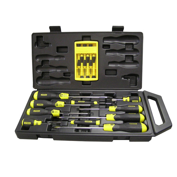 Stanley SoftGrip Screwdriver Set 16pc