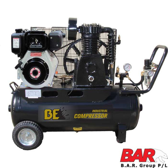 BE Diesel Air Compressor - Industrial Belt Drive