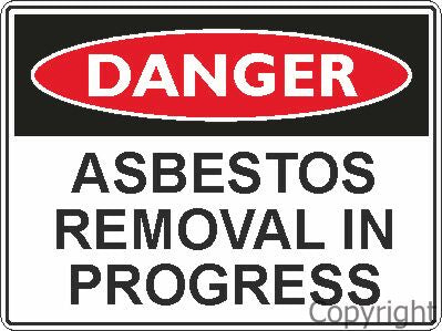 Safety Sign - Asbetos Removal 45x60cm Metal