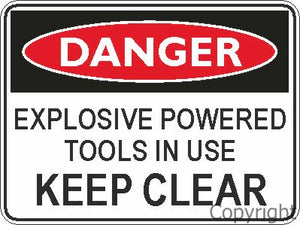 Safety Sign - Explosive Tool 45x60cm Metal