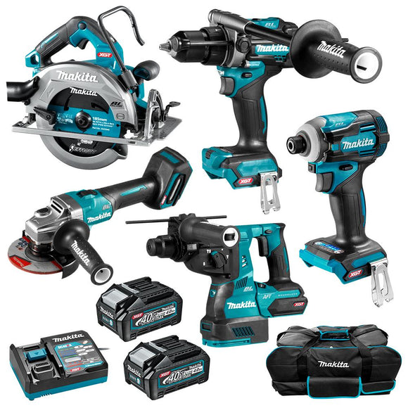 Makita DK0144G501 40V Max Li-ion XGT Cordless Brushless 5pce Combo Kit