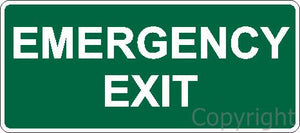 Safety Sign - Emergency Exit 60x45cm Metal