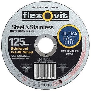 Flexovit Mega Inox Cutting Disc 125x1.0x22.2mm
