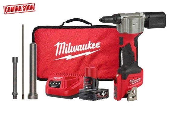 Milwaukee 12V Li-Ion Pop Rivet Tool Kit Cordless Tools