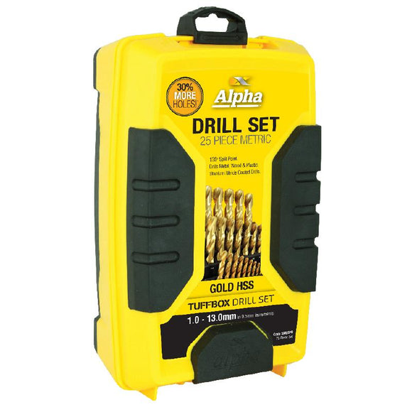 Alpha Gold Metric Drill Set