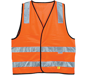 Maxisafe Day/Night Orange Hi-Vis Vest