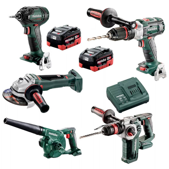 Metabo 18V 5 Piece Brushless LiHD Impact Driver Combo