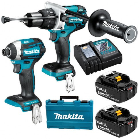 Makita 18v 4.0Ah Brushless 2pc Driver Combo Kit