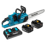 "Makita 36V (18V x 2) 5.0Ah Brushless 400mm (16"") Chainsaw Combo Kit"