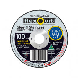 Flexovit Mega Inox Cutting Disc 102x1.0x16.0mm