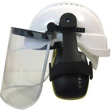 Maxisafe Hard Hat with Clear Visor & Earmuff Assembly